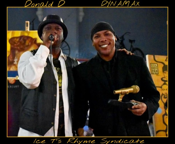 Dynamax in Leeds UK for the 42nd Anniversary of Zulu Nation, accepting the lifetime achievement award presented by Donald D.